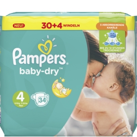 Pampers Windeln Baby Dry Größe 4 Maxi 8-16 kg