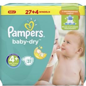 Pampers Baby Dry Größe 4+ Maxi plus 9-18 kg