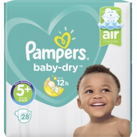 Pampers Pampers Windeln Baby Dry Größe 5+ Junior plus 12-17 kg