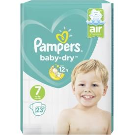 Pampers Windeln BabyDry Größe 7 Extra Large 15+kg