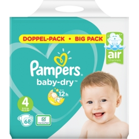Pampers Windeln Baby-Dry, Gr. 4 Maxi, 9-14 kg, Doppelpack