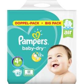 Pampers Windeln Baby-Dry, Gr. 4+ Maxi Plus, 10-15 kg, Doppelpack