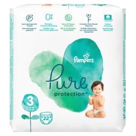 Pampers Windeln Pure Protection, Gr. 3, 6-10 kg, Tragepack