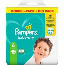 Pampers Windeln Baby Dry, Größe 6 Extra Large, 13-18kg, Doppelpack