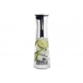 Bohemia Cristal Wasserkaraffe mit Edelstahl Ausgießer 1,1 l