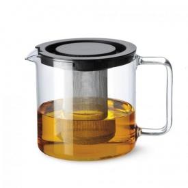 Bohemia Cristal Teekanne mit Metallsieb und Kunststoffdeckel 1,3 l