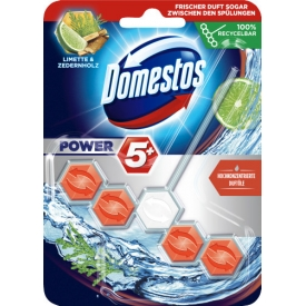 Domestos WC-Stein Power 5+ Limette & Zedernholz