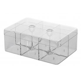 Mepal Teedose rechteckig mit 6 Fächer 21,7x14,8x8,5cm transparent