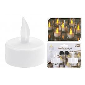 LED Teelicht Ø4cm weiß 2er Satz