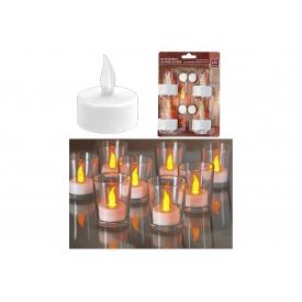 Teelicht LED Ø4cm 4er set inklusiv Batterien