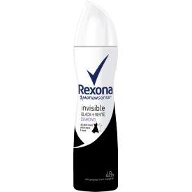 Rexona Women Deospray Invisible Black & White Clothes