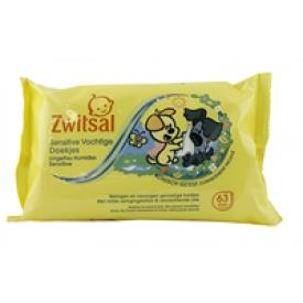 zwitsal Zwitsal Baby tücher Wipes 63pcs Woezel&Pip
