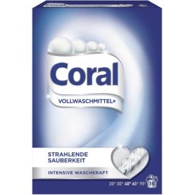Coral Pulver Vollwaschmittel  strahlende Sauberkeit