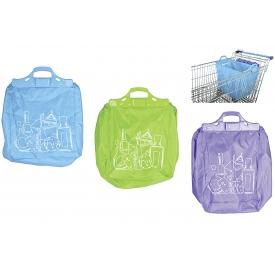 Esschert Design Einkaufswagentasche 40L faltbar farblich sortiert
