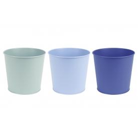 Esschert Design Blumentopf Zink blau