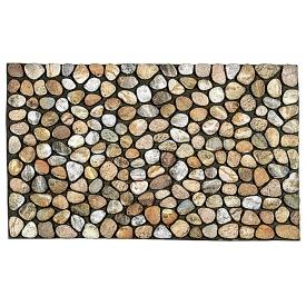 Md-entree Gummiflockmatte Masterpiece Pebble Beach 46x76cm beige