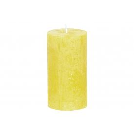 Bolsius Stumpenkerze Rustiko 13x7cm gelb