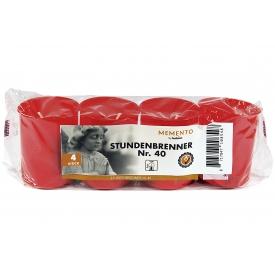 Bolsius Stundenbrenner Nr. 40 4er Pack rote Hülle