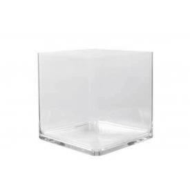 Vase Würfel Polycarbonat 30x30x30cm klar