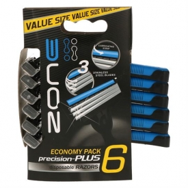 Zone Zone Razors 6pcs Triple Blades SS Paper Packed For Men