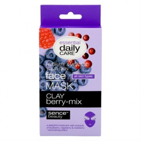 Sencebeauty Facial Clay Berry-Mix Mask 6gr 5pcs All Skin Types