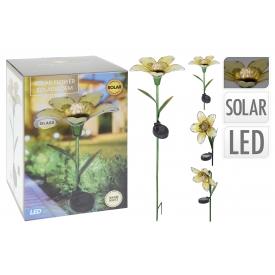 Solar Lampe Blume Metall sortiert