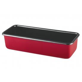 Riess Königskuchenform 30x10cm rot Emaille