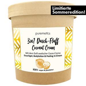 Puremetics Seifen 3in1 Dusch-Fluff mit Zuckerpeeling Coconut-Cream