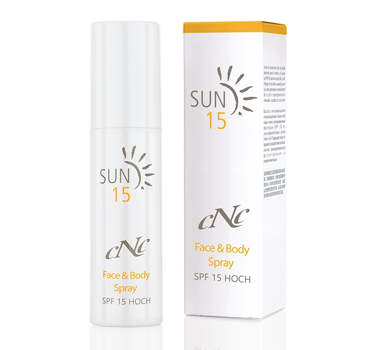 CNC Skincare Sun Face & Body Spray SPF15
