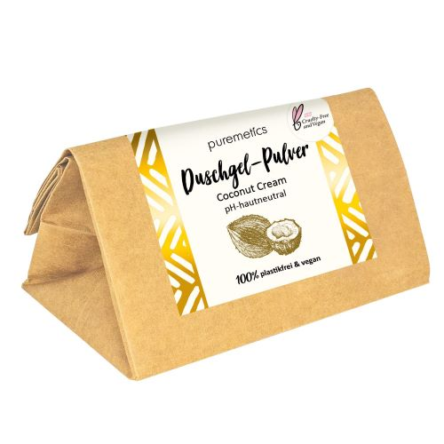 Puremetics Seifen Duschgel-Pulver Coconut Cream
